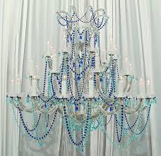 blue turquoise crystal ocean crystal chandelier