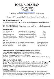 Resume Format Journalist Resume For Study