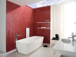Black And White And Red Bathroom