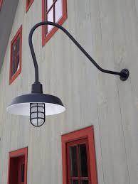 Classic Gooseneck Lights Lend Barn Style To New Vermont Home - Exterior barn lighting