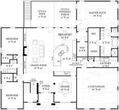 Groveland 2716  3 Bedrooms And 3 Baths  The House DesignersFloor Plans With Stairs