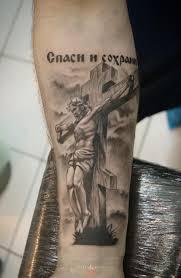 православный крест на предплечье тату тату тату с рунами и