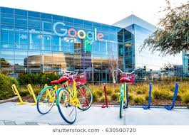 goggle office. Mountain View, Ca/USA December 29, 2016: Googleplex - Google Headquarters With Goggle Office
