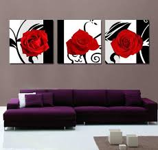 xm art canvas print 3 panels black white red rose canvas art abstract wall art i love the look of this red and black floral wall art  on wall art black white and red with trendy stylish and bold canvas wall art pinterest abstract wall
