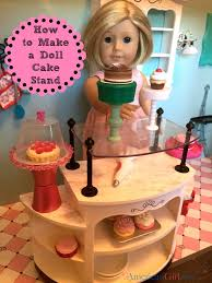 how to make a doll cake stand