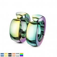 Steel earrings clip Spikes SFE-13521