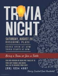 trivia night flyer templates customizable design templates for trivia postermywall
