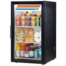 ... Glass Doors, True GDM 6 LD Black Countertop Display Refrigerator With  Swing Lowes Glass Door ...