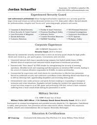 Police Officerume Fabulous Military Examples Army Resume Officer Interesting Military Police Description For Resume