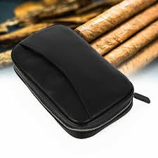 luxury genuine soft leather cigar travel gadgets case for 5 cigars humidor usa
