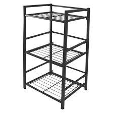 flipshelf 3 tier shelving unit black