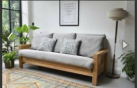 It can be folded and stored away when. Used Futon Company Sofa Bed 3 Seater Sofa Bed Solid Oak In Very Good Condition Ebay