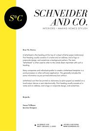 Making A Letter Head Yellow Black Elegant Interior Design Creative Letterhead