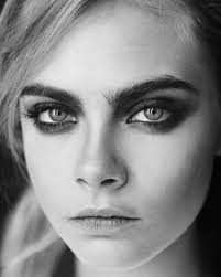 model cara delevingne closeup in black white i love black white photography are you shooting with the awesome and simple lenka iphone camera app