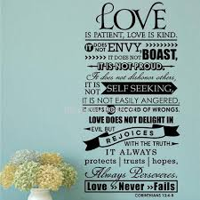 Love Is Patient Quote Best Bible Wall Stickers Love Is Patient Scripture Quote Wall Decal Bible