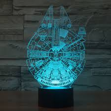 Millennium Falcon Star Wars Lighting Gadget Lamp Decor Awesome Gift Us 15 6 42 Off Tamproad 1 Piece Holiday Lamp 3d Bulbing Light Millennium Falcon Star Wars Night Lights Color Changing Touch Control Table Lamps In