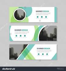 Circle Website Design Eco Green Abstract Circle Corporate Business Banner Template