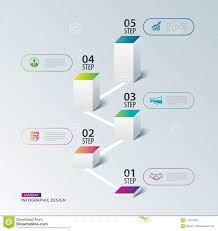 5 year timeline template infographics box square with 5 data timeline template vector il
