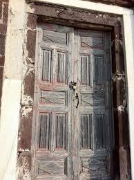 very old door from greece