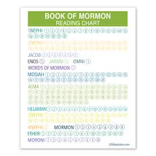 Book Of Mormon Reading Chart Printable Green Book Of Mormon Reading Chart Poster Printable
