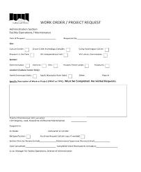 Extra Work Order Template Extra Work Order Template Extra Work Order Forms Extra Work