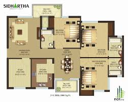 sqft bedroom house plans india sq six split modern 4 3 empty