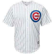 Majestic Replica Jersey Size Chart Chicago Cubs Replica Cool Base Home Jersey By Majestic