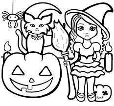 Small Picture Halloween Coloring Pages Preschoolers Easy Coloring Pages