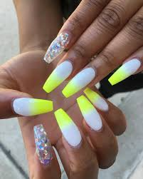 Neon Nail Designs Pinterest Pinterest Juhstess Nailworld Yellow Nails Yellow