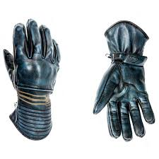 helstons rider leather gloves blue zoom