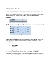 What Is An Interoffice Memo Sample Interoffice Memo Free Download