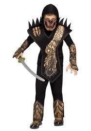 Ninja Suit Size Chart Boys Dragon Skull Ninja Costume