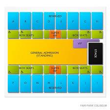 Fair Park Coliseum 2019 Seating Chart