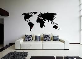 world map wall sticker design wall travel decor design ideas of world wall art