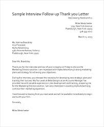 Sample Follow Up Thank You Notes After Interview