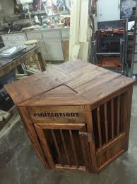 dog crate end table diy inspirational 27 best wooden dog crates images on of dog