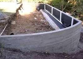 Small Picture Poured Concrete Retaining Wall Design Ideas About Concrete