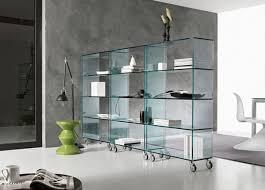 Glass shelves bookcase Brass Homedit Elegant Glass Libreria Bookcase Tonelli