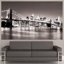 New York Skyline Wallpaper For Bedroom New York Wall Decal Etsy