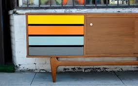 Mid century modern furniture Scandinavian Affordable Midcentury Furniture In La Multicolored Drawer Credenza At West Coast Modern La Los Angeles Magazine Where To Find Beautiful Affordable Midcentury Furniture In La