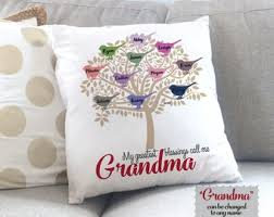 personalized grandma gift grandmother gift grandchildren gift mother s day gift for grandma throw pillow cover custom gift for mom