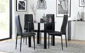high end dining room furniture black dining room furniture solar round gl table with 4
