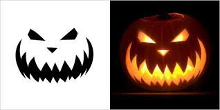 Scary Pumpkin Carving Patterns Interesting Easy Scary Pumpkin Carving Stencils Halloween Paper Craft
