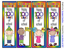 Design Bookmarks 100 Days Of School Bookmarks 4 Designs 2 Sayings To Choose From
