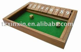 Wooden Box Board Games wooden board gems shut the box dice games View shut the box 77
