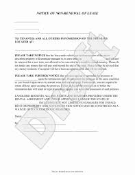tenant renewal letter rent application cover letters new landlord s notice of non renewal