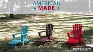 polywood adirondack chair with hideaway ottoman sku 62c43 plow hearth