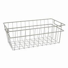 closetmaid 4 drawer shelftrack basket kit closetmaid large wire basket in nickel 31228 the home