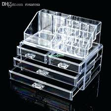 whole 4 drawers cosmetic organizer clear acrylic whole 4 drawers cosmetic organizer clear acrylic jewellery box makeup storage case acrylic makeup
