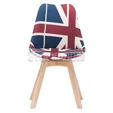 british flag furniture. Navarro Full Fabric Dining Chair - British Flag Pattern Furniture